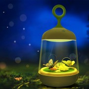 1w Usb Recargable En Forma De Mariposa Jaula Toque Interruptor Luz Creativa Moderna Planta Micro Paisaje Luz Que Cambia De Color De Diy Crecer Luz De Noche, Dc 5v