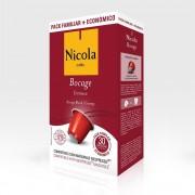 Capsule Nicola Cafes Bocage Cremoso, compatibile Nespresso Fam, 30 capsule