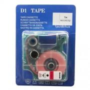 Lettertape Dymo D1: 45807 19mm Zwart-Rood Huismerk