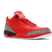 air jordan retro 3 grateful Basketball Shoes For Men(Red)