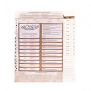 ZIONS CSPR CONTRACTORS SITE PASS REGISTER CONTAINING 100 PASSES