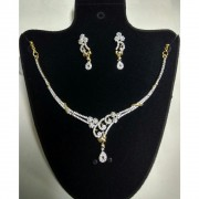 American Diamond Necklace Set with Earrings American Diamond Necklace Set Online