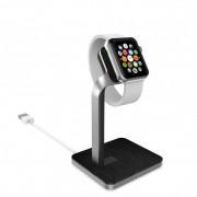Mophie Watch Dock - луксозна алуминиева поставка за Apple Watch (сребрист-черен)