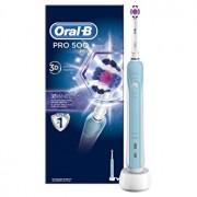 Periuta electrica Oral-B PRO 500 3D White, 20000 de oscilatii, acumulator