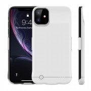 5200mAh Portable Rechargeable Extended Battery Charging Case for iPhone 11 6.1 inch - White