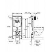 Set rezervor WC incastrat Grohe Rapid SL 3 in 1 + placa actionare Grohe Skate Air