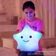 Kawaii Star Pillow Plush Toys Cute Luminous Pillow Toy Led Light Pillow Glow in Dark Plush Pillow Doll Toys for Children Kids