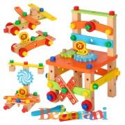 Дървен стол конструктор