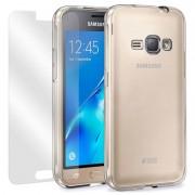 Conjunto Completo de Protecção Moxie para Samsung Galaxy J1 (2016) - Transparente