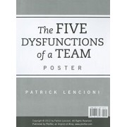 The Five Dysfunctions of a Team Poster, Paperback/Patrick M. Lencioni