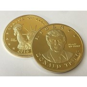Donald Trump US Presidential Candidate & Statue of Liberty 24kt Gold Plated Commemorative Token by Happy Collecting
