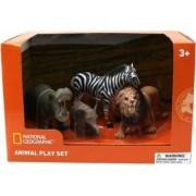 Set 4 figurine National Geographic Hipopotam Elefantel Zebra si Leu