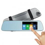 """Camera auto DVR PNI Voyager S2000, Full HD incorporata in oglinda retrovizoare, 170 grade, touchscreen IPS 5"""", camera marsarier 120 grade VGA (Negru)"""