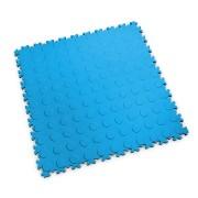 Modrá vinylová plastová zátěžová dlaždice Industry 2040 (penízky), Fortelock, 02 - délka 51 cm, šířka 51 cm a výška 0,7 cm