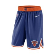 Short de NBA New York Knicks Nike Icon Edition Swingman pour Homme - Bleu