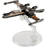 Hot Wheels Star Wars Rogue One Starship Vehicle, Poe Dameron's X-Wing Fighter (Open Wing)