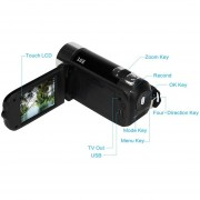 Mini Cámara De Video Con Zoom Digital TFT 4X De 1.8 Pulgadas (negro)