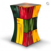 Grote Diabolo Glasfiber Urn Kleurvlakken (3.8 liter)