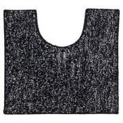 Douche Concurrent Toiletmat Antislip Sealskin Speckles Polyester/Micro Fibre Zwart 45x50cm