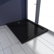 vidaXL Obdĺžniková sprchová vanička z ABS, čierna 70 x 90 cm