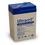 Batteria al Piombo AGM Professionale UL5-6 Ultracell UK 6V DC 5AH 5,0AH