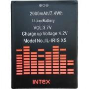 Mobile battery for INTEX IL IRIS X5 / LAVA IRIS X5 2000 mah