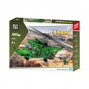Joc constructie Blocki, Elicopter armata, 369 piese