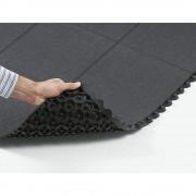 Bodenplatten-Stecksystem LxBxH 910 x 910 x 19 mm Gummi schwarz