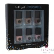 2K - Let´s Get Colourful! Nudes Nail Polish (5ml) Szett - Körömlakk