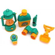 Pretend play mini camp out set with Oil-Lamp and telescope camping combination set from Little Treasures is perfect for any little scout or budding camper.