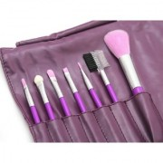 7 Pieces Makeup Brush Setwith Leather Pouch Complete Makeup Brush Kit Cosmetic Tool Beauty Brush-Random Color