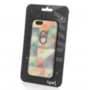 アイキンス iKins iPhone6 天然貝ケース Mosaic ブラックフレーム(Mosaic ブラック) レディース