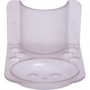 SSS-Acrylic 3 in1 Classic (Paste Holder Brush Holder Soap dish)(Material- Acrylic Unbreakable)