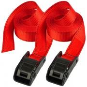 Set 2 ks upínací popruhy Master Lock 3110EURDATCOL - červený - 250cm