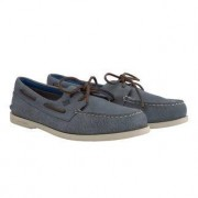 Sperry Waschbarer Leder-Bootsschuh, 42 - Blau