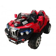 GetBest Monster Suv Ride on Jeep with 12V Battery and Remote Control (White)
