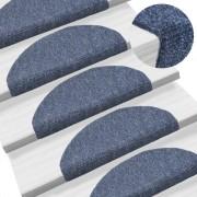 vidaXL 15 db kék, öntapadós lépcsőszőnyeg 65 x 21 x 4 cm