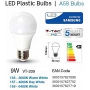 Žarulja LED E27 9W, hladno svjetlo, SAMSUNG chip,V-tac 158
