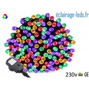 Guirlande LED 20M Multi-couleur 200 led étanche IP44 230v. ref gl-10