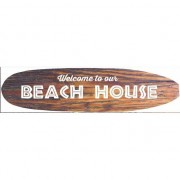 Geen Surfboard muurplaat Beach House