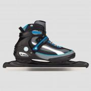 NIJDAM Semisoft schaatsen zwart/blauw Heren - zwart/blauw - Size: 42
