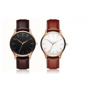 Solo Act Ltd £8.99 (from Styled By) for a men's classic minimal leather watch – choose from dark brown or light brown strap colours!