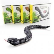 Creazy Remote Control Snake Rattlesnake Animal Trick Terrifying Mischief Toy (black)