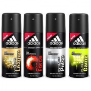Adidas Spray Deodorants Force Victory League Pure Game and Dynamic Pulse Of 150 ML Each (Set of 4)