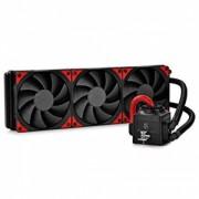 "Cooler DeepCool CPU universal. cu LICHID. soc LGA20xx/1366/115x & AMx/FMx, AL+Cu+lichid, 3xTF 120 fans, 150W, red LED ""CAPTAIN 360 EX"""