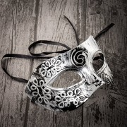 Home Treats Unisex Masquerade Masks Face Mask Venetian for Fancy Dress Ball / Masked Halloween (Silver)