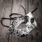 Home Treats Unisex Masquerade Masks Face Mask Venetian for Fancy Dress Ball / Masked Halloween (Silver)