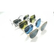 fench hub Butterfly Sunglasses(Silver, Yellow, Black, Blue)
