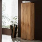 Garderobenschrank aus Kernbuche Massivholz mit Kleiderstange