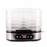 Deshidrator de alimente Daewoo DD500S 500 W 5 tavi display digital timer ventilator integrat Inox
